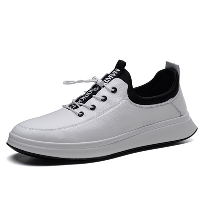 Plain Elastic Band Men's Skater Shoes