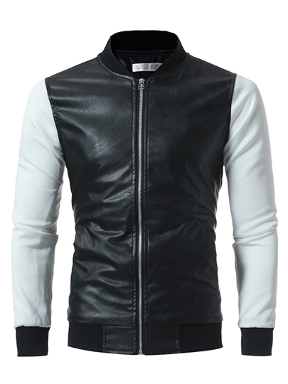 Stand Collar Zipper Raglan Sleeve Slim Fit Men's Casual Jacket