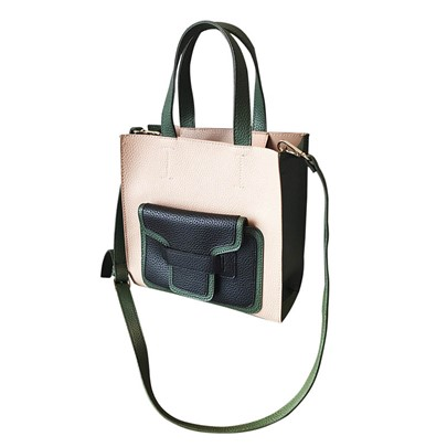 Preppy Chic Color Block Cross Body Bag