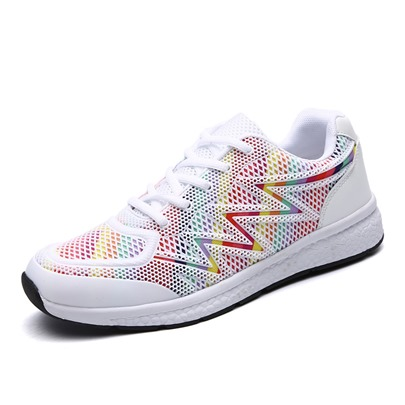 Patchwork Mesh Breathable Light Men's Running Shoes