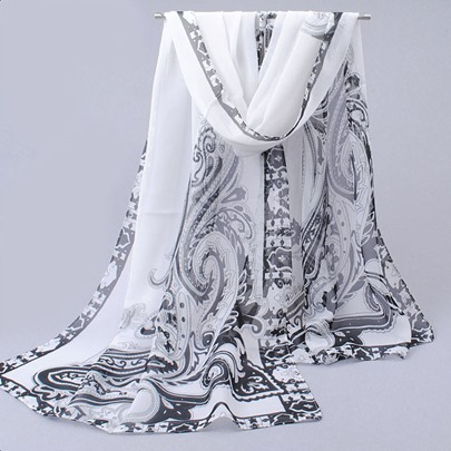 Patchwork Floral Print Sunshade Rural Style Scarfs