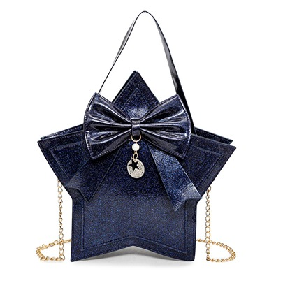 Shining Sequins Star Shape Bowknot Tote