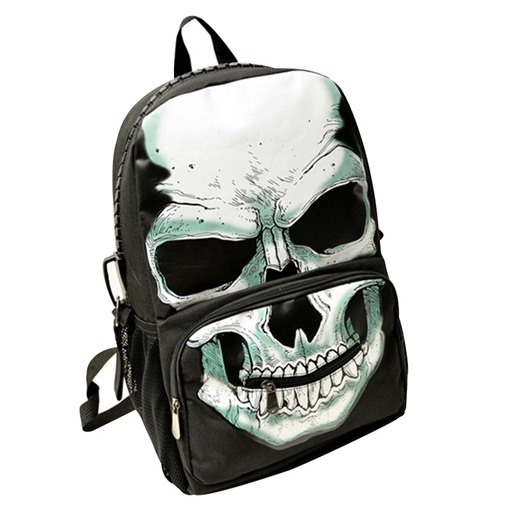 Distinctive Fluorescence Skull Design Backpack