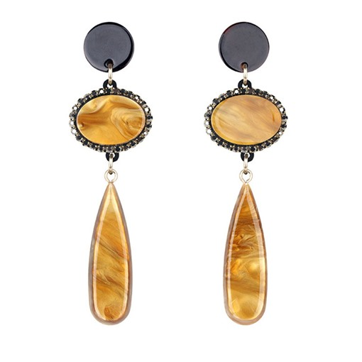 European Irregular Creative Texture Drop Acrylic Earrings