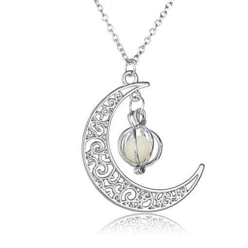 Halloween Series Luminous Moon Handcraft Pumpkin Pendant Necklace
