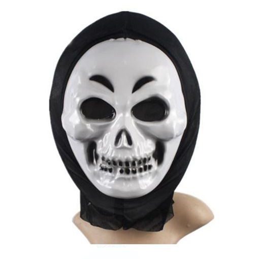 Smile Ghost Scream Scary Plastic Voile Halloween Mask