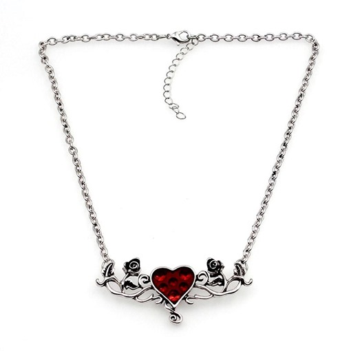 Halloween Series Rose Bine Oil Drip Heart-Shaped Vintage Necklace