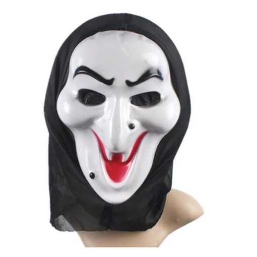 White Face Witch Scary Plastic Halloween Mask