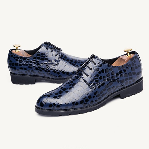 Alligator Pattern Lace Up Men's Dress Shoes
