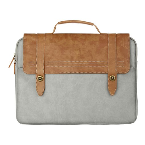 Color Block PU Laptop Bag