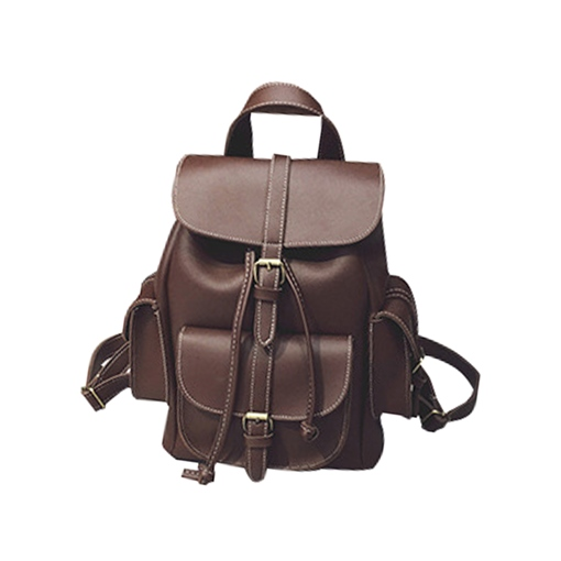Vintage PU Cylinder Women Backpack