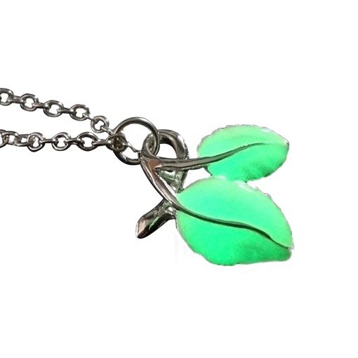 Halloween Series Luminous Sparkling Leaves Necklace