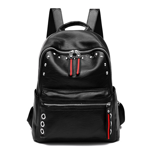 High-Capacity Rivet Adornment Backpack