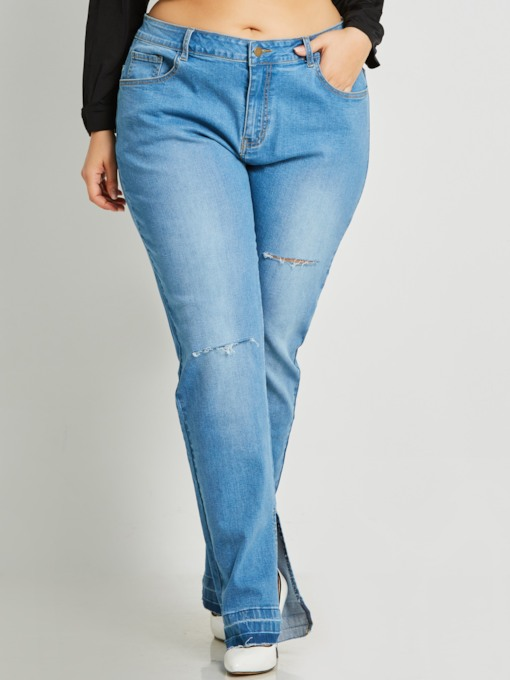 High-Waist Plus Size Slim Women's Jeans