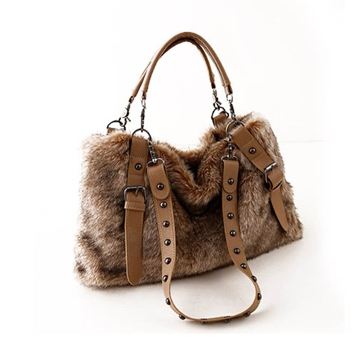 Personality Rivet Plush Women Tote