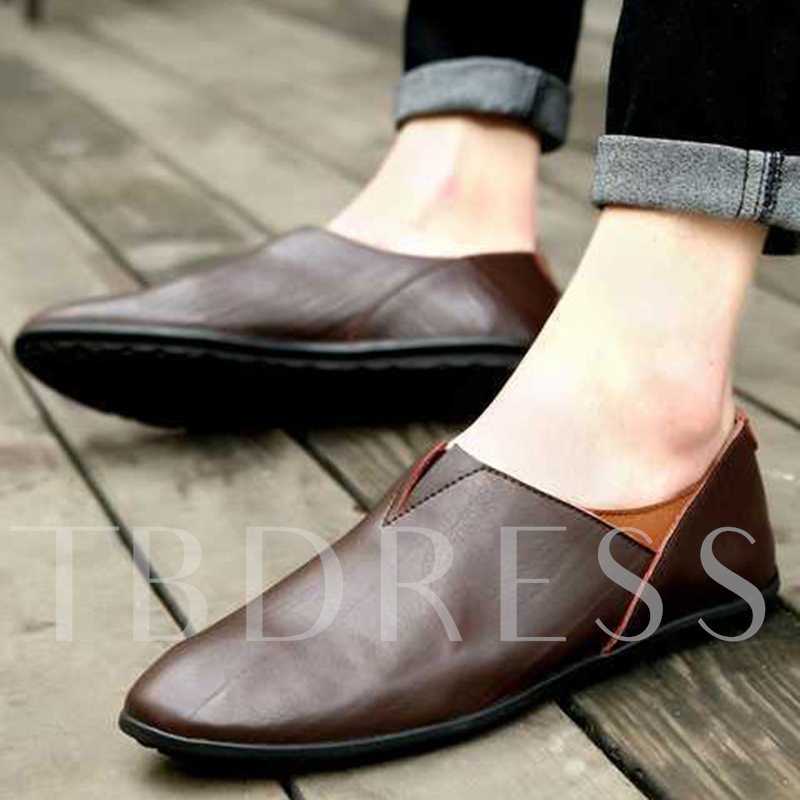 PU Slip On Solid Men's Loafers