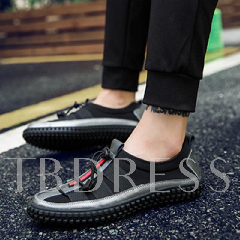 Elastic Band Patchwork Cloth Men's Casual Shoes