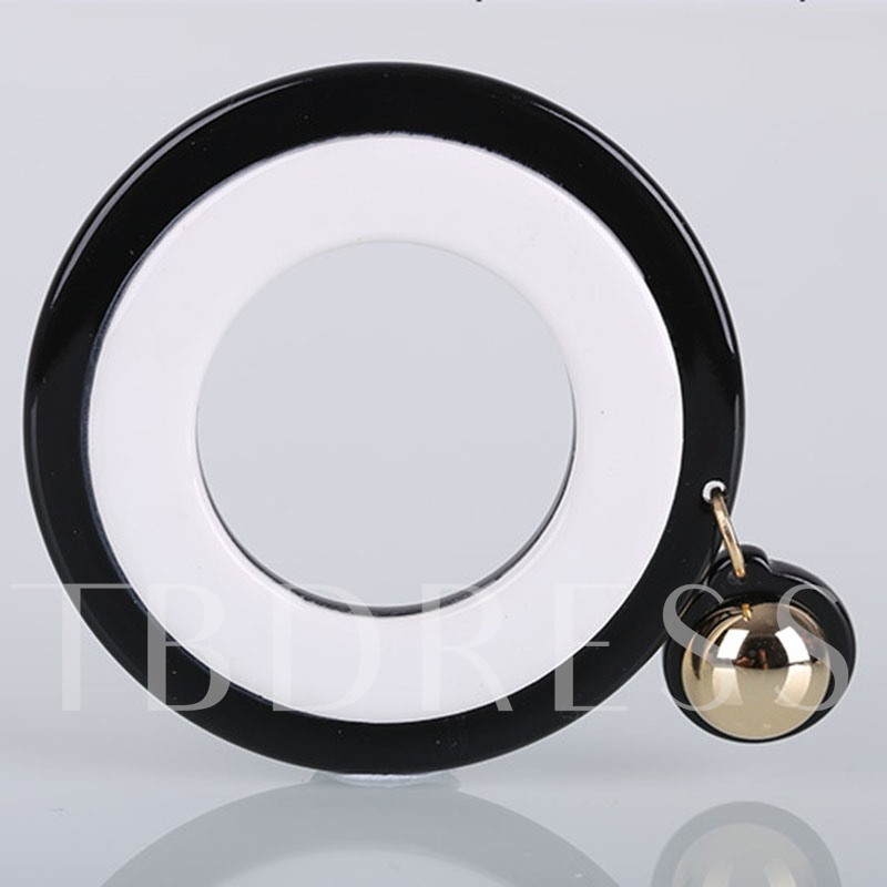 Great Circle Reshin Color Blocking Acrylic Earrings