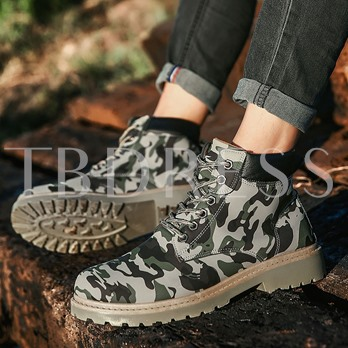 Camouflage Lace Up Men's Ankle Shoes Martin Boots