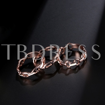 Rose Gold Hollow Out Combination Ring