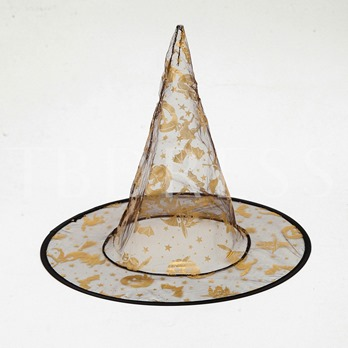 Perspective Floral Print Gauze Witch Halloween Hats (Random Delivery)