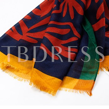 Diagonal Pattern Cotton Printing Lightweight Scarfs
