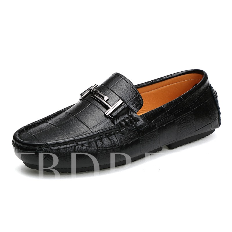 Square Toe Double T Sequins Men's Loafer