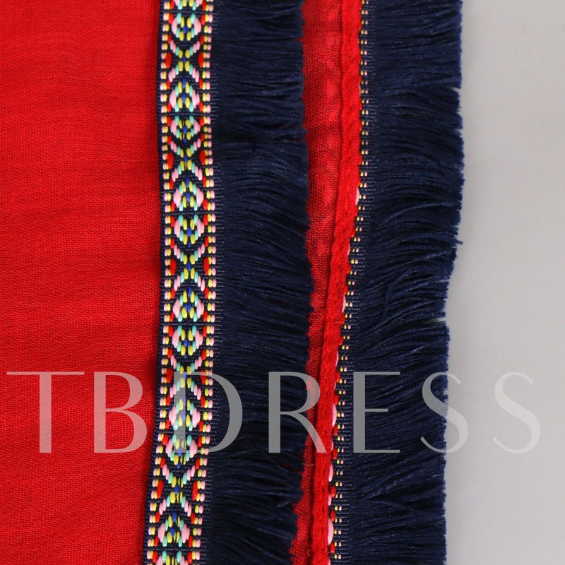Plain Rough Selvedge Ethnic Weave Scarf