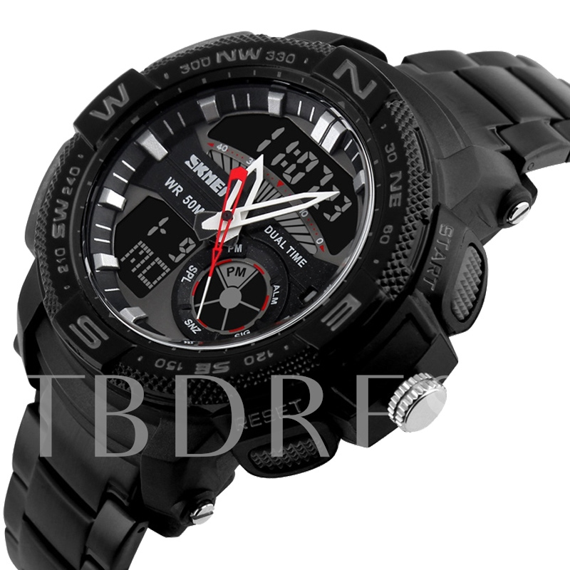 Multifunctional Water Resistant Stainless Steel Resin Men's Watches