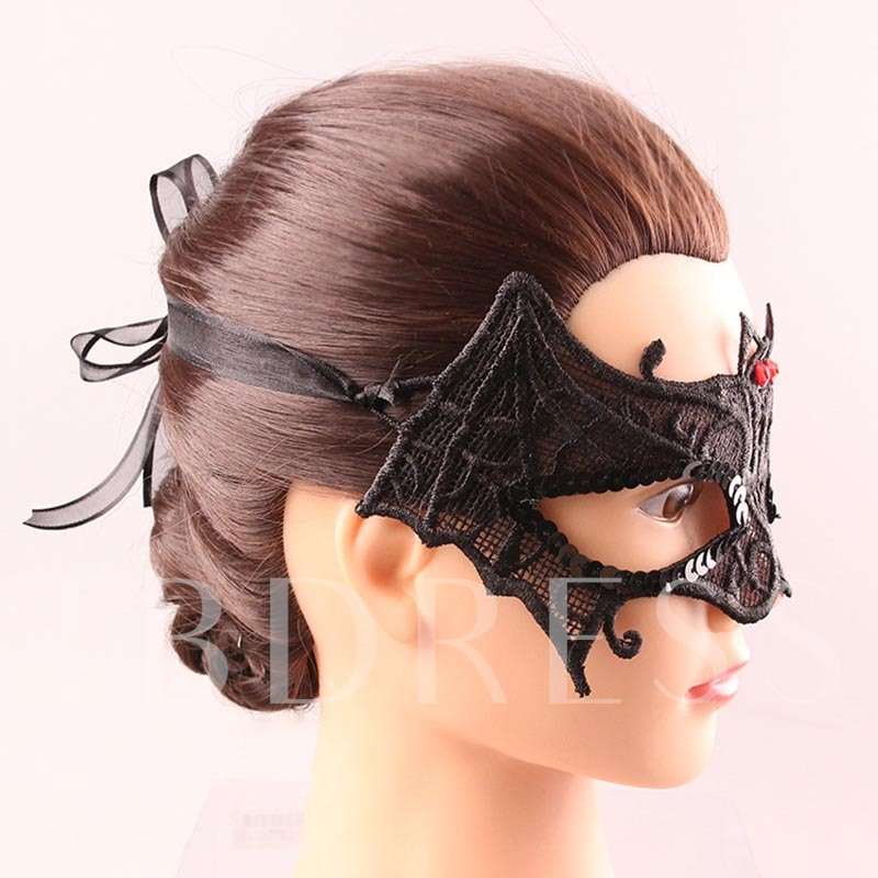 Mysterious Hollow Out Lace Bat Shaped Gothic Masquerade Eye Mask