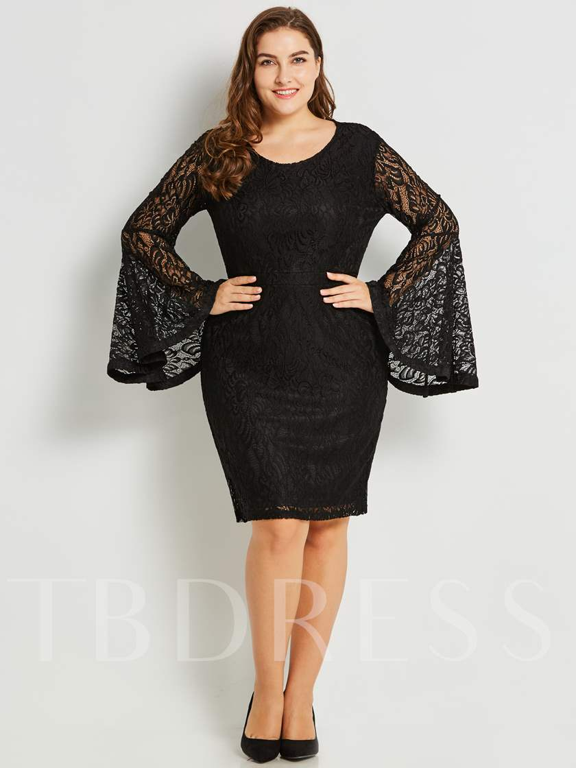Bell Sleeve Lace Women's Sheath Dress