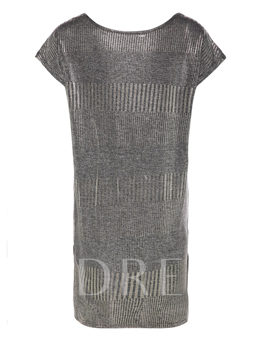 V-Neck Stamping Pullover Mid-Length Women's Knitwear