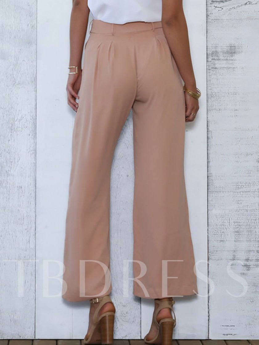 Loose Lace-Up Women's Casual Pants