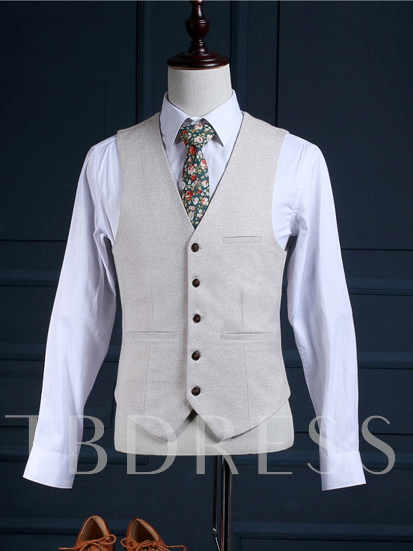 England Style One Button White Slim Fit Men's Dress Suit