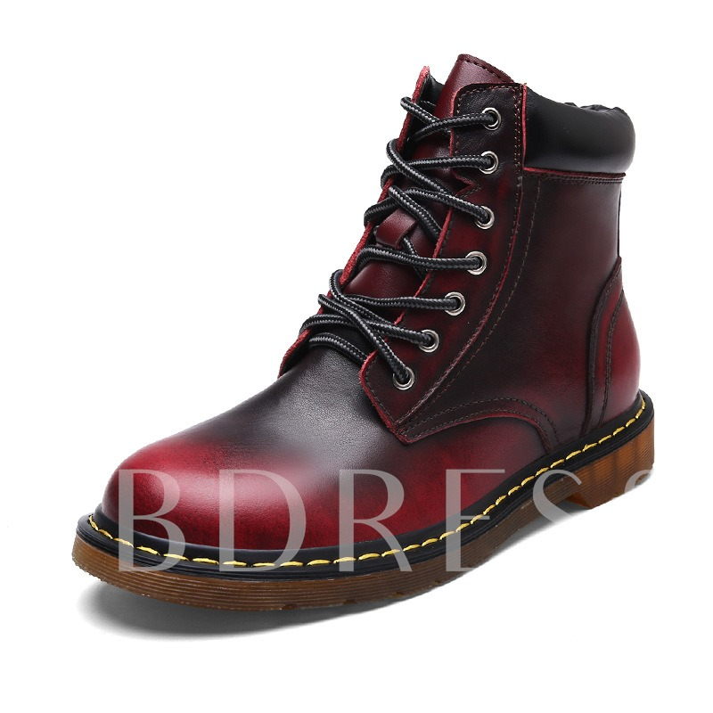 Gradient Lace Up Men's Martin Ankle Boots