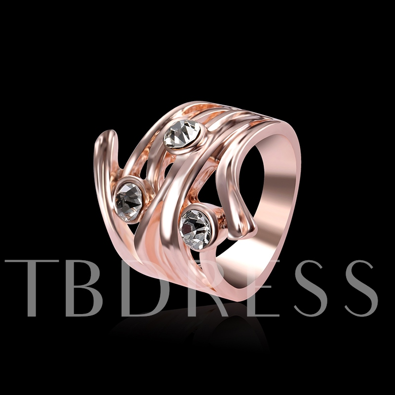 Alloy Rose Gold Hollow Out Ring