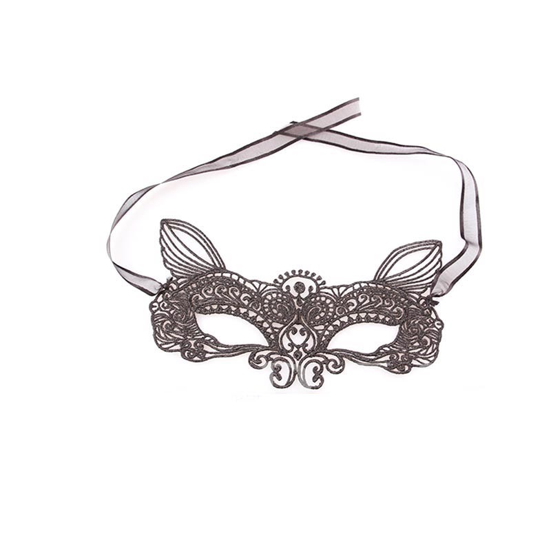 Lace Hollow Out Half Cover Gothic Mysterious Masquerade Halloween Mask
