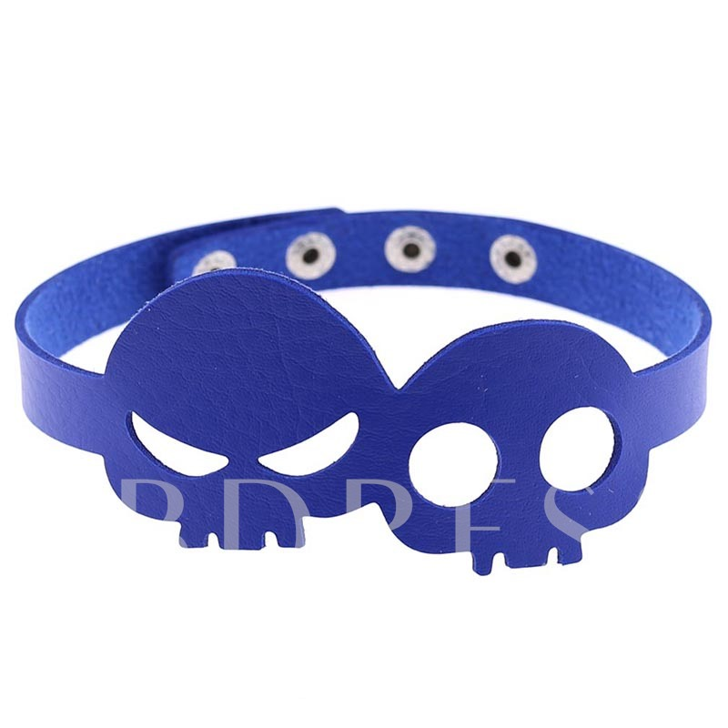 Halloween Series Skull Shaped Punk Torques Choker Necklace