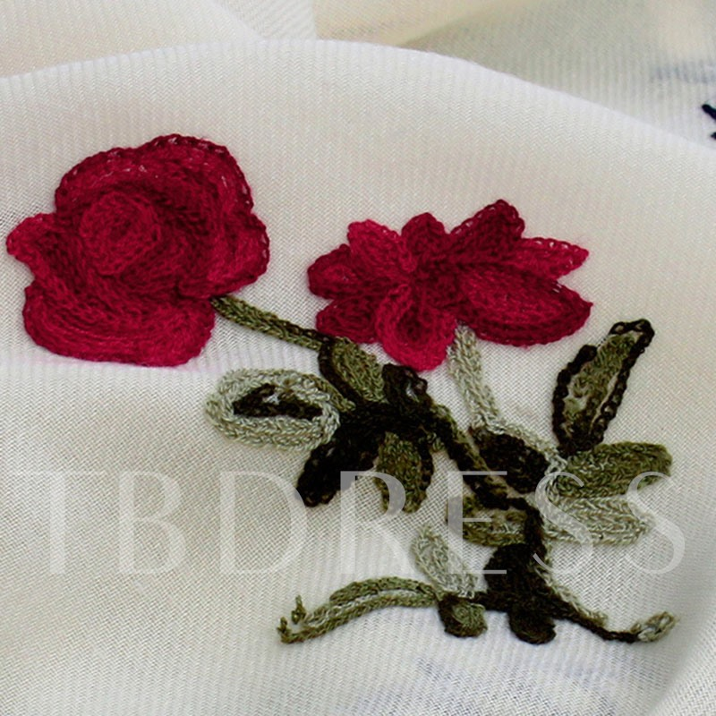 Cotton Embroidery Fall Shawl Generic Scarfs