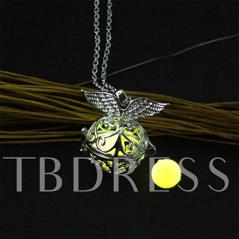 Halloween Series Luminous Hollow Out Pomander DIY Necklace
