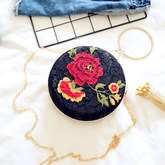 Vintage Floral Embroidery Evening Clutch