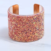 Colorful Alloy Openings Sequins European Bracelet