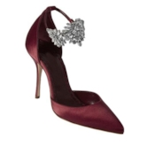 Red Rhinestone High Heel Dress Shoes Women's Pumps