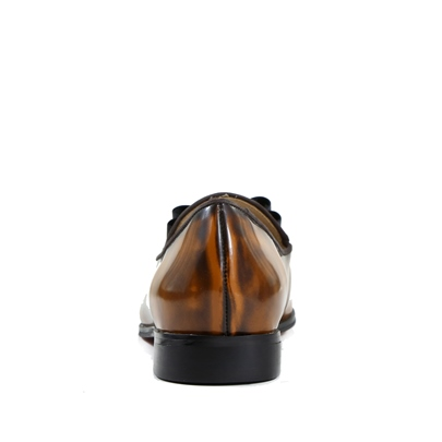 Brown Artificial Leather Shoes Bow Block Heel Fashion Loafers