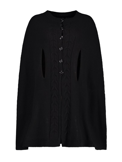 Single-Breasted Loose Winter Cape Coat Women's Sweater