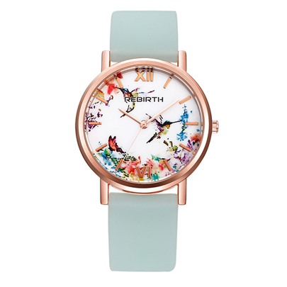 Printing Digital Display Artificial Leather Strap Alloy Watches
