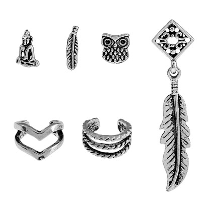 Hollow Out Leaf Owl Alloy Personalized Earrings