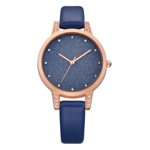 Original Diamante Artificial Leather Strap Alloy Glass Watches