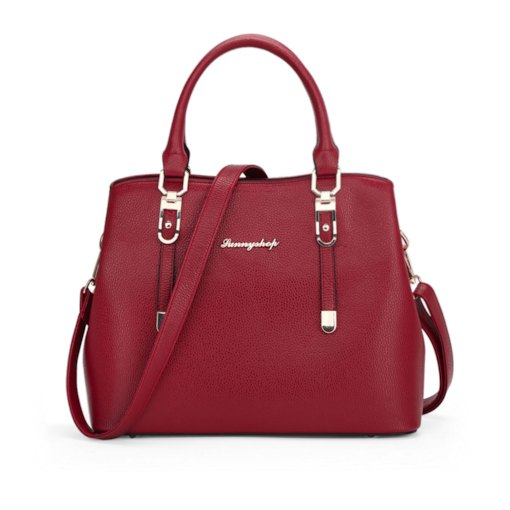 Ladylike Solid Color PU Women Tote