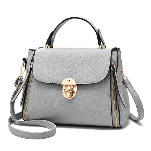 Solid Color Latch Design Women Tote